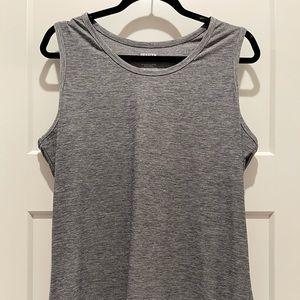 EUC DULUTH Women's Gray Wicking Muscle Shirt Sz LG